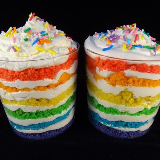 Fun Rainbow Cookie Parfaits Great For A Party