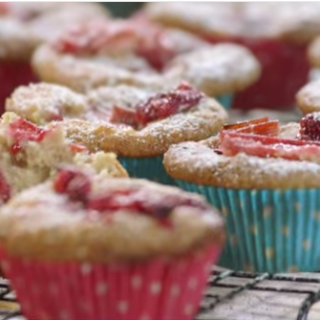 Delicious Rhubarb, Raspberry & Coconut Muffins That Are Great For The Kids