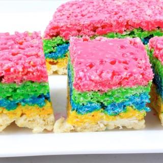 What Wonderful Fun ...Rainbow Rice Krispie Treats