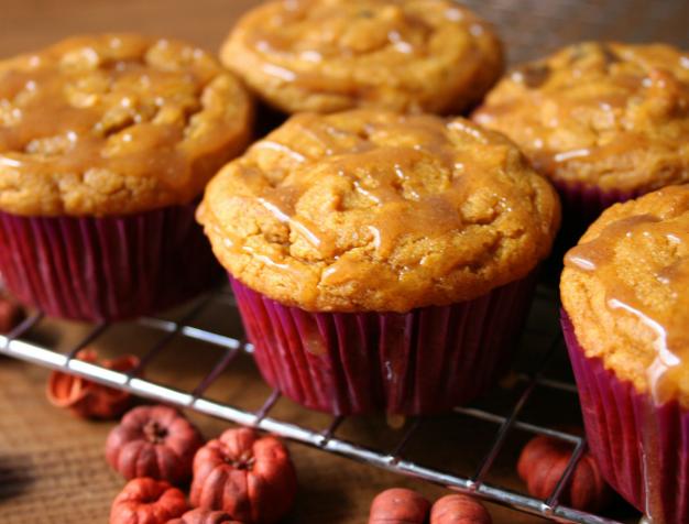 Gluten-Free, Vegan Pumpkin Chocolate Chip Cupcakes With Cinnamon Glaze