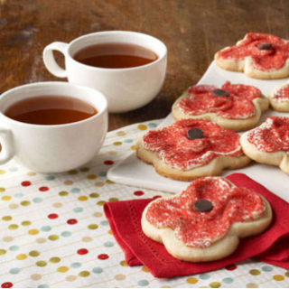 Remembrance Day Wonderful Poppy Cookies Recipe