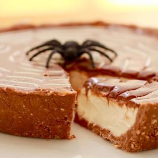 A Really Yummy Non -Bake Twix Pie for Halloween
