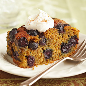 A Moist Overnight Blueberry Coffee Cake , Great For Diabetic