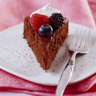 Mocha Cake Recipe With Berries.. Diabetic Friendly