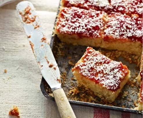 Love These Jammy Coconut Squares