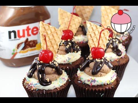 Nutella Fudge Sundae Cupcake Recipe ..How Delicious