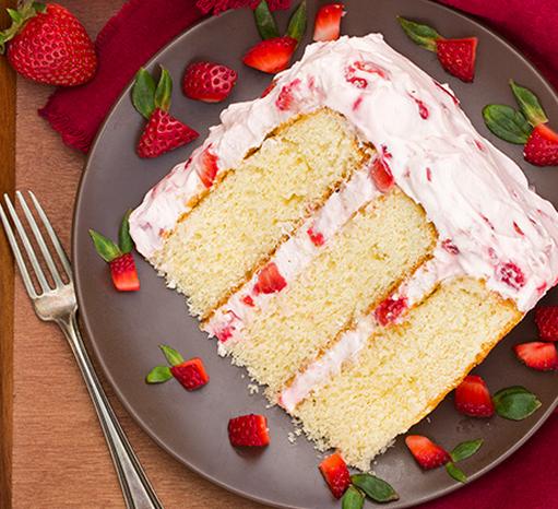 A Fresh Strawberry Cake Recipe