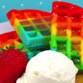 What Fun ..Rainbow Waffles Recipe