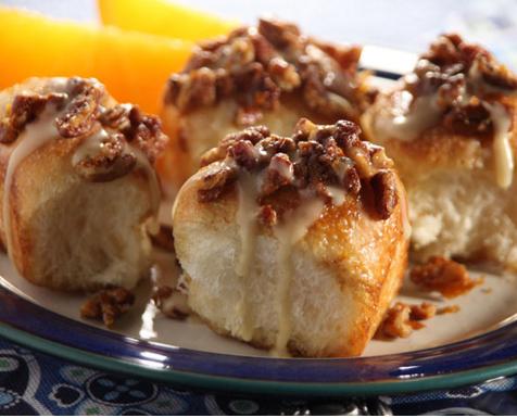 Delicious Pecan Orange Pull Apart Bread Rolls