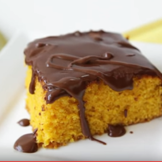 A Wonderful Brazilian Carrot Cake With Chocolate Icing