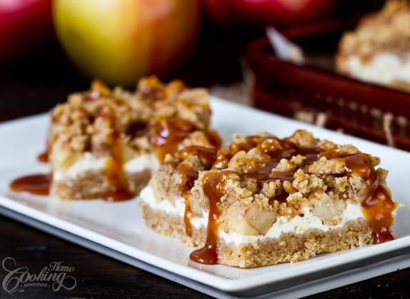 A Really Yummy Caramel Apple Cheesecake Bars Recipe