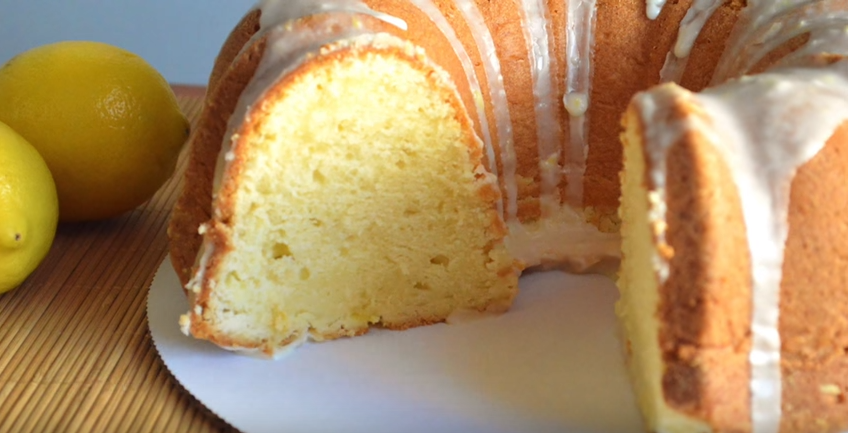 Lemon Cream Cheese Pound Cake