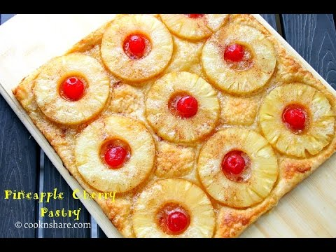 A Really Easy Cherry Pineapple Pastry