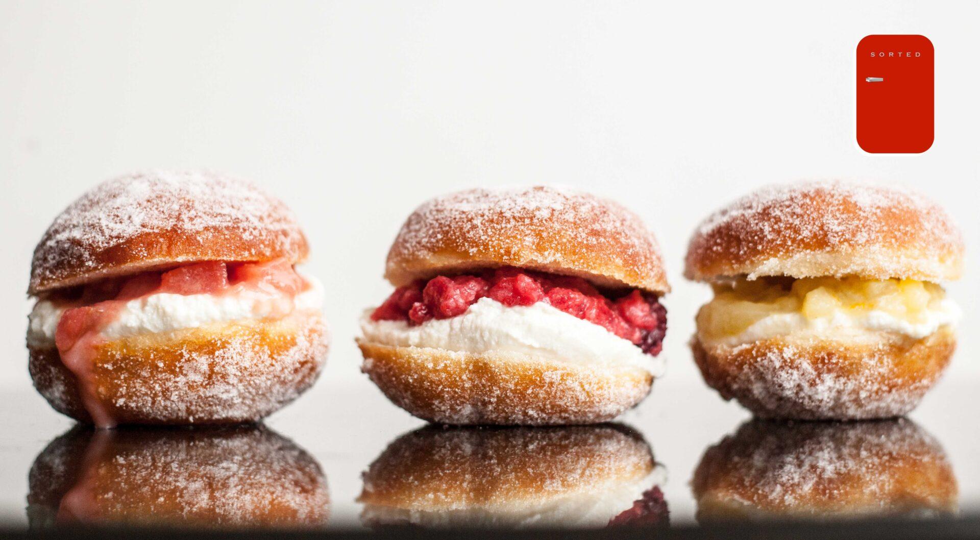 A Wonderful Doughnut Recipe For These 3 Fruity Doughnut Sliders