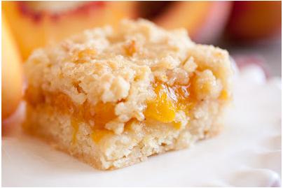 Fruity Peach Crumble Bars