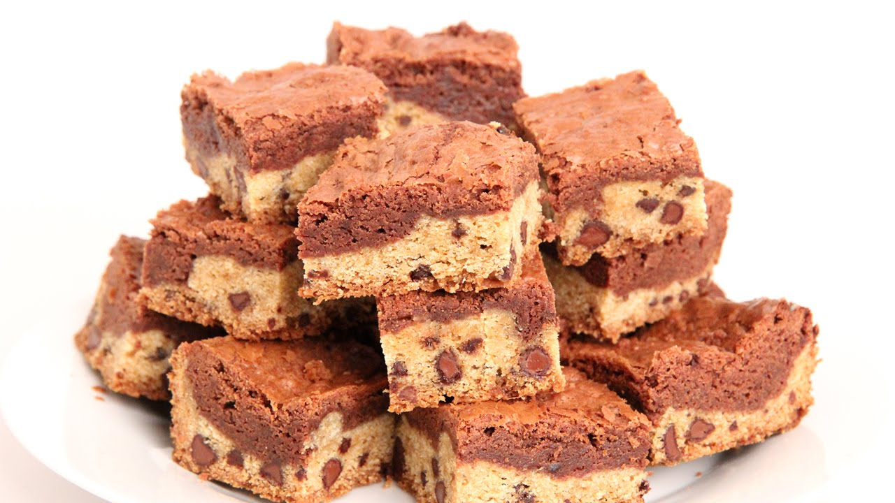 Delicious Cookie Dough Brownies