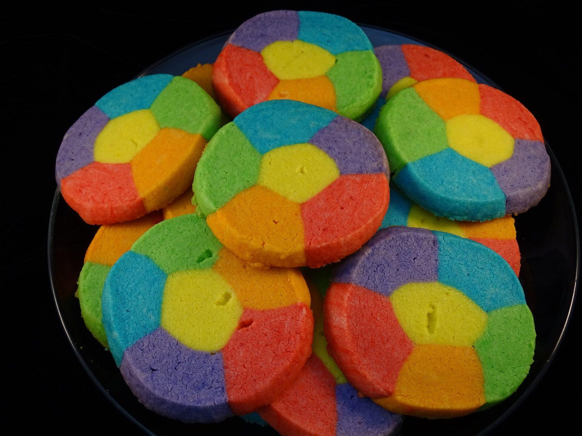 Rainbow Jell-O Sugar Cookies
