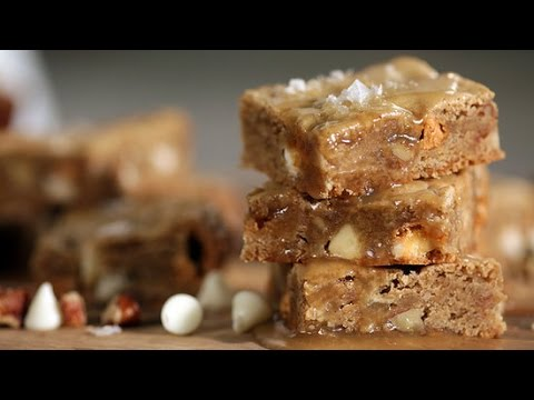 Salted Butterscotch Blondies With A Wonderful Maple-Butter Sauce