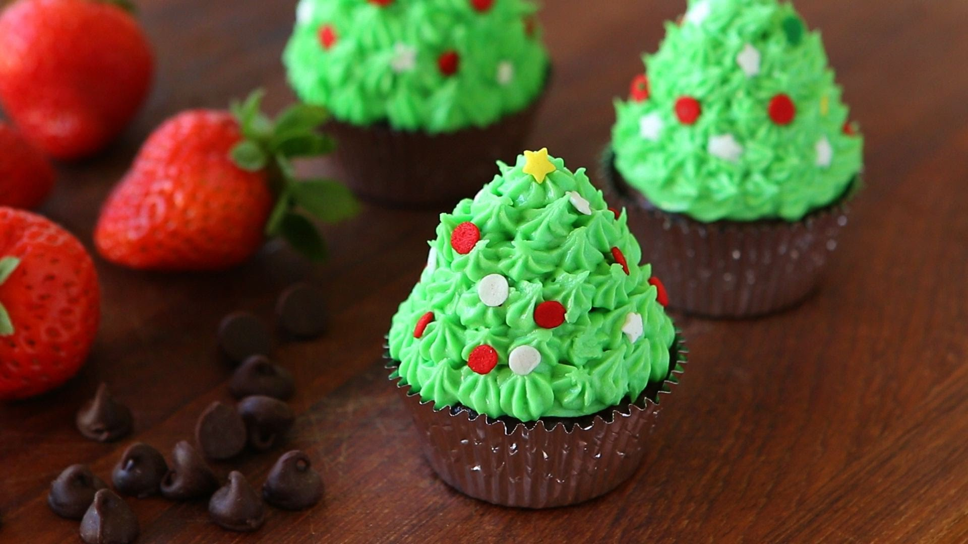 How To Make These Christmas Tree Cupcakes Recipe With Chocolate And
