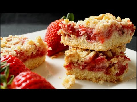 Really Yummy Strawberry Crumb Bars Recipe