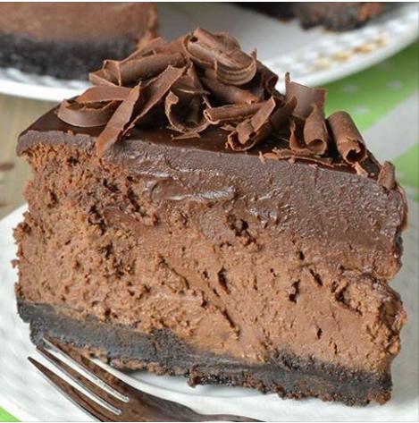 A Really Yummy Triple Chocolate Cheesecake