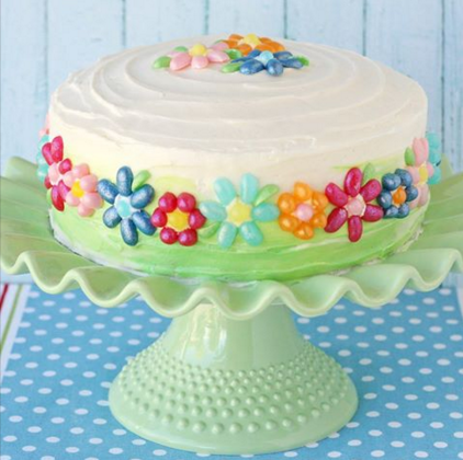 Jelly Belly Flower Cake