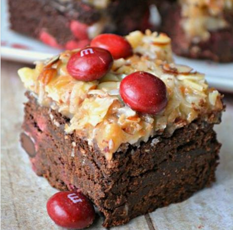 German Chocolate Bars With Cake Mix