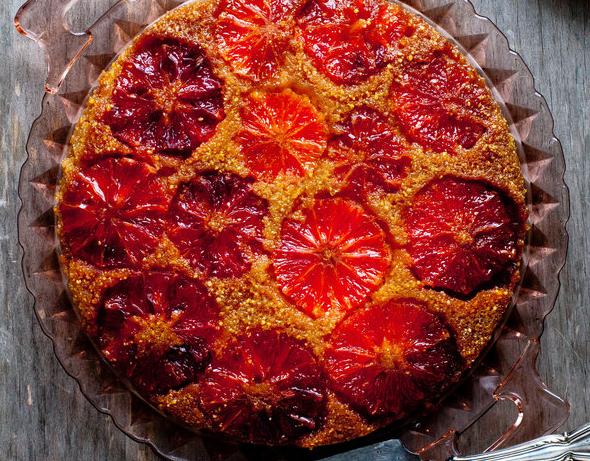 Spectacular Upside Down Blood Orange Cake
