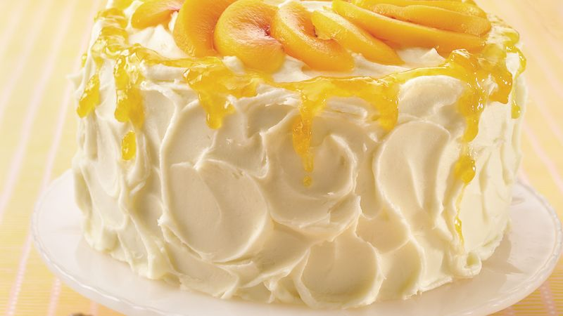 Yummy Layered Cake Recipes: Delicious Peaches And Cream Layer Cake