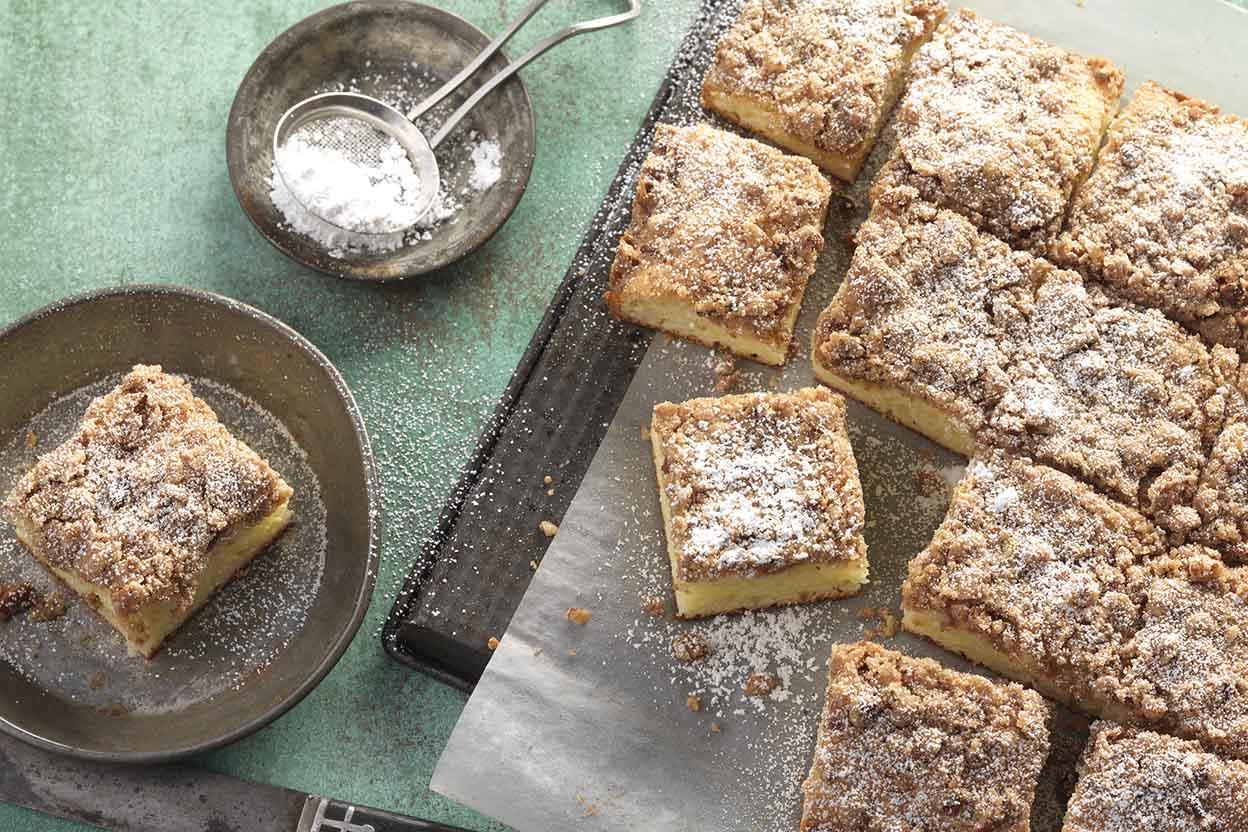 Gluten-Free Cinnamon Streusel Sour Cream Coffee Cake