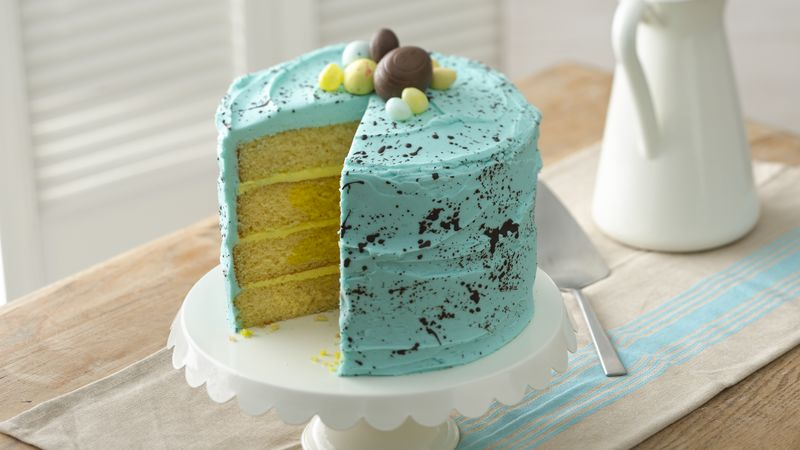 Surprise-In-The-Center Speckled Egg Cake