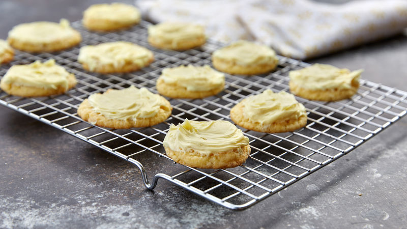 Frosted Cake Mix Lemon Cookies