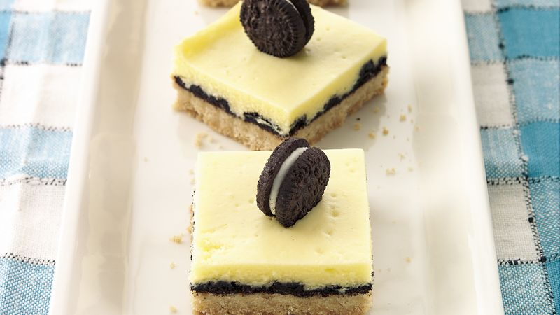 Oreo Cookie-Cheesecake Bars