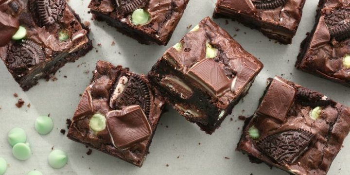 Triple-Mint Andes-Oreo Brownies