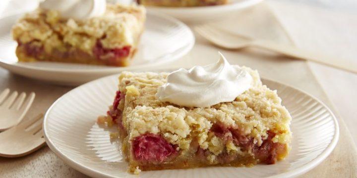Five-Ingredient Rhubarb Squares