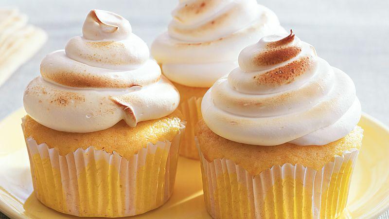Lemon Meringue Surprise Cupcakes