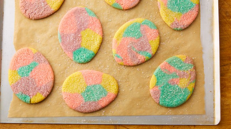 Marbled Easter Egg Sugar Cookie Cutouts