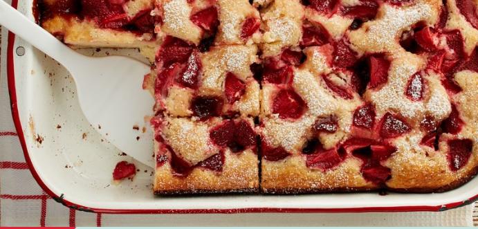 Strawberries And Cream Yogurt Cake