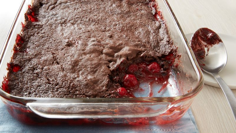 3 Ingredient Amazing Chocolate Cherry Dump Cake
