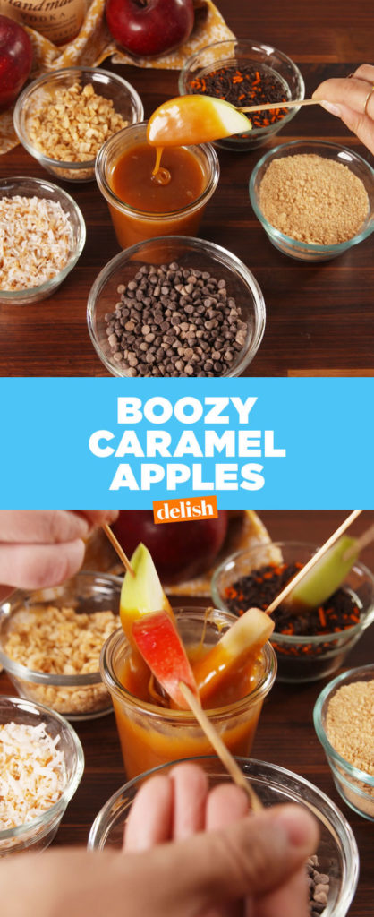 You Just Have To Try These Boozy Caramel Apples