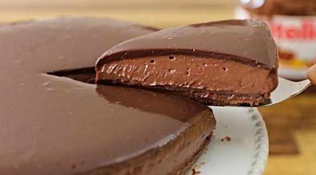 No-Bake Nutella Cheesecake