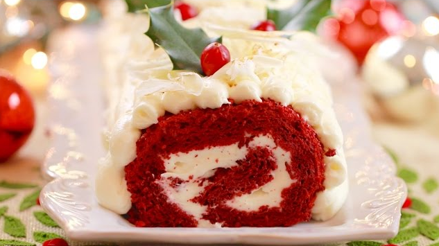 What A Lovely Gluten Free Red Velvet Roulade Cake To Try