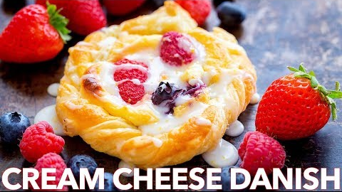 Bake This Cream Cheese Danish Recipe with Berries and Lemon Glaze