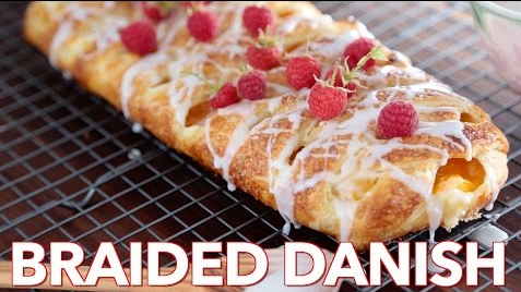 Have A Go At This Peach Cream Cheese Braided Danish