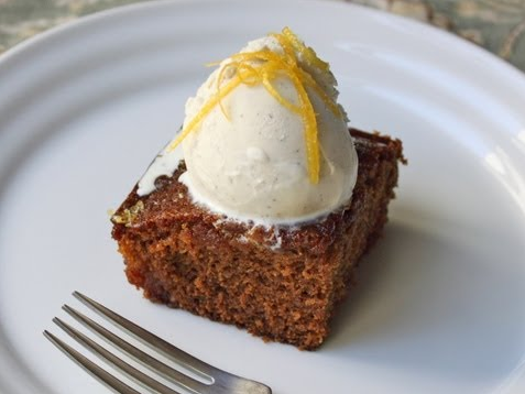 A Delicious Gingerbread Cake with Lemon Glaze