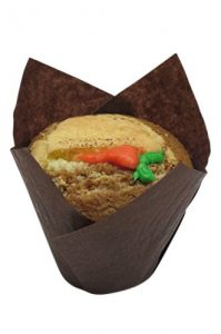 Decony Brown Large Tulip Cupcake Liners