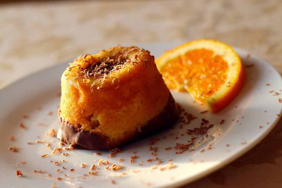 Upside-Down Orange Muffins with Chocolate Recipe