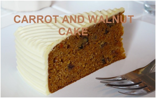 Carrot and Walnut Cake Recipe