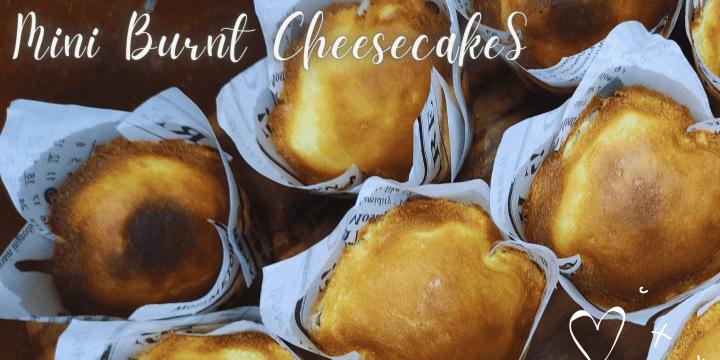 Mini Burnt Cheesecakes